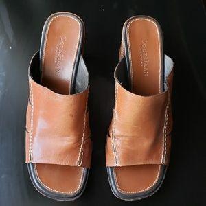 Cole Haan Beautiful Brown Heeled Sandals
